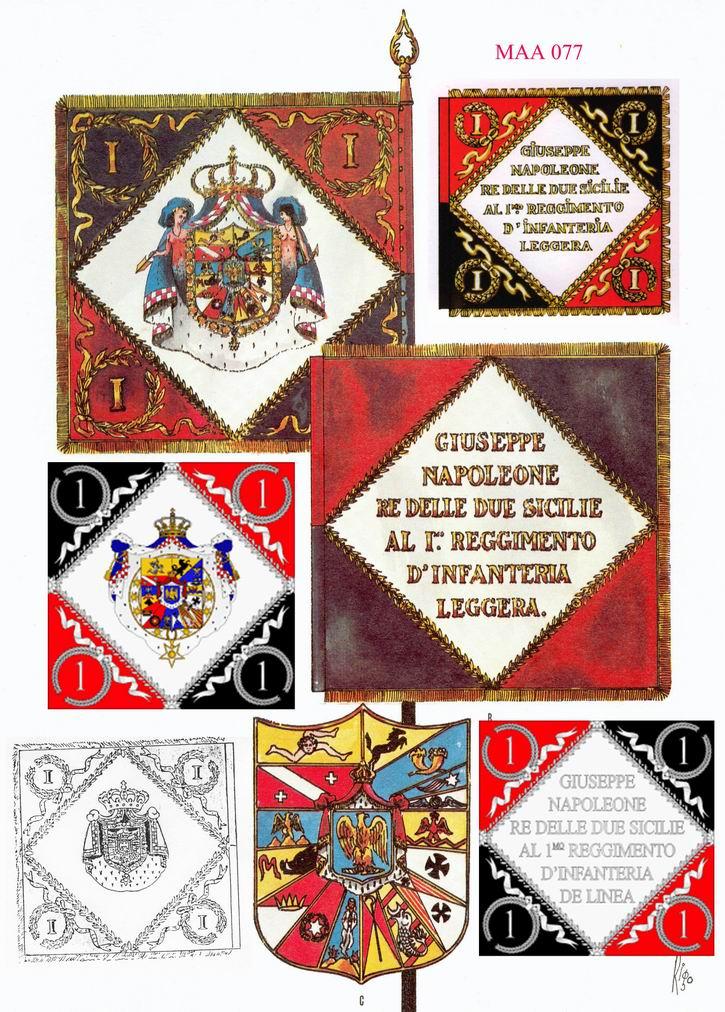 Drapeau du 1er régiment d'infanterie légère napolitaine 0110