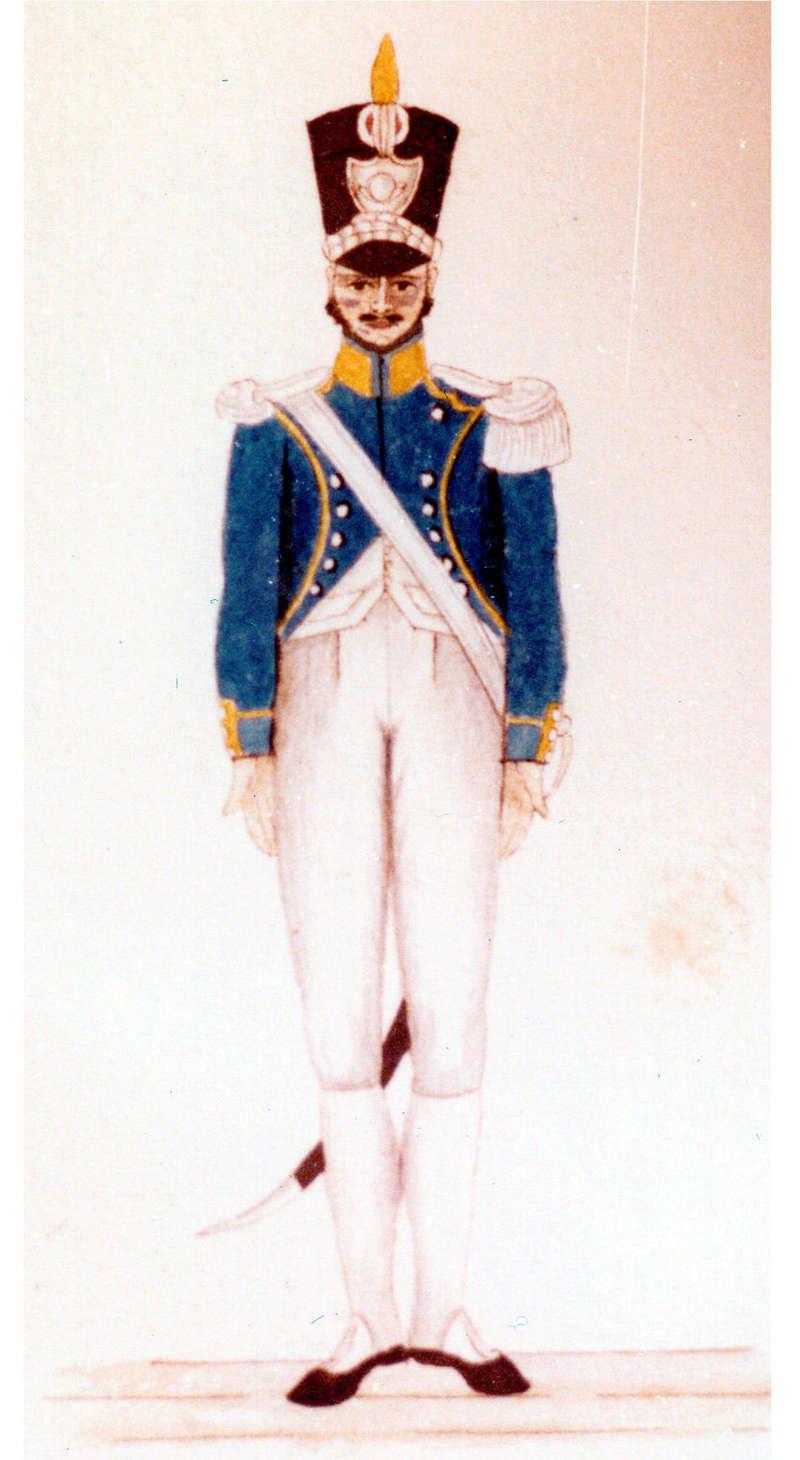 Drapeau du 1er régiment d'infanterie légère napolitaine 2-o410