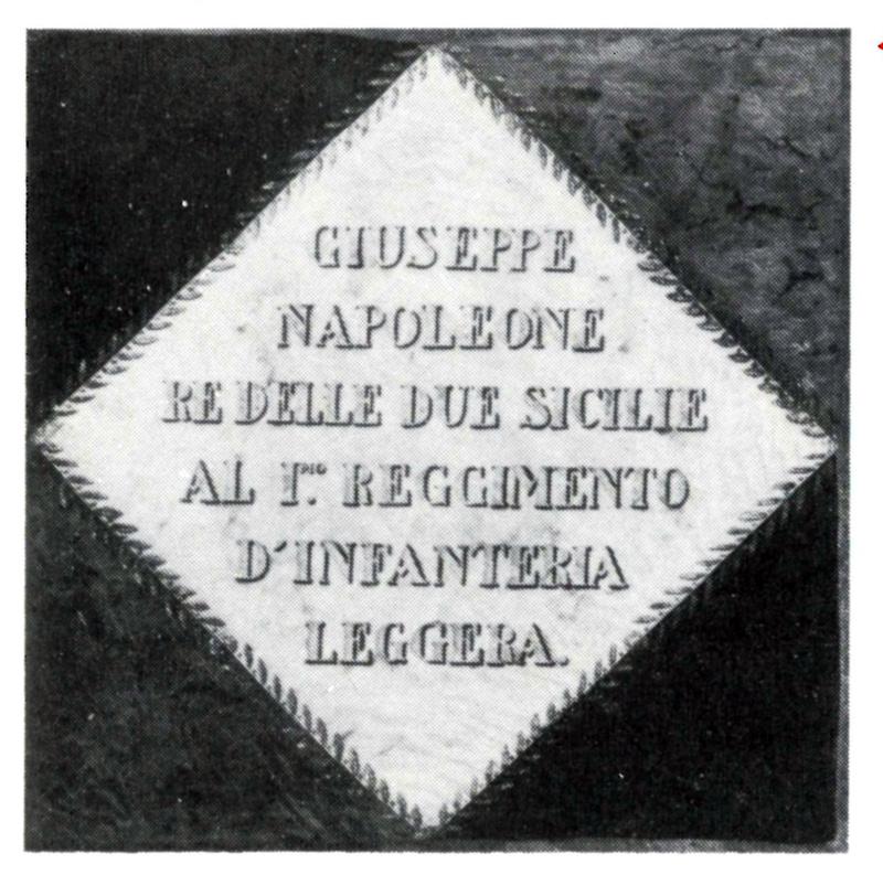 Drapeau du 1er régiment d'infanterie légère napolitaine Leg1ma10