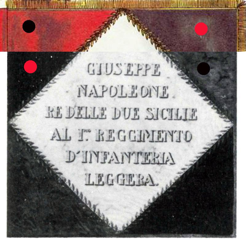 Drapeau du 1er régiment d'infanterie légère napolitaine Leg1ma11