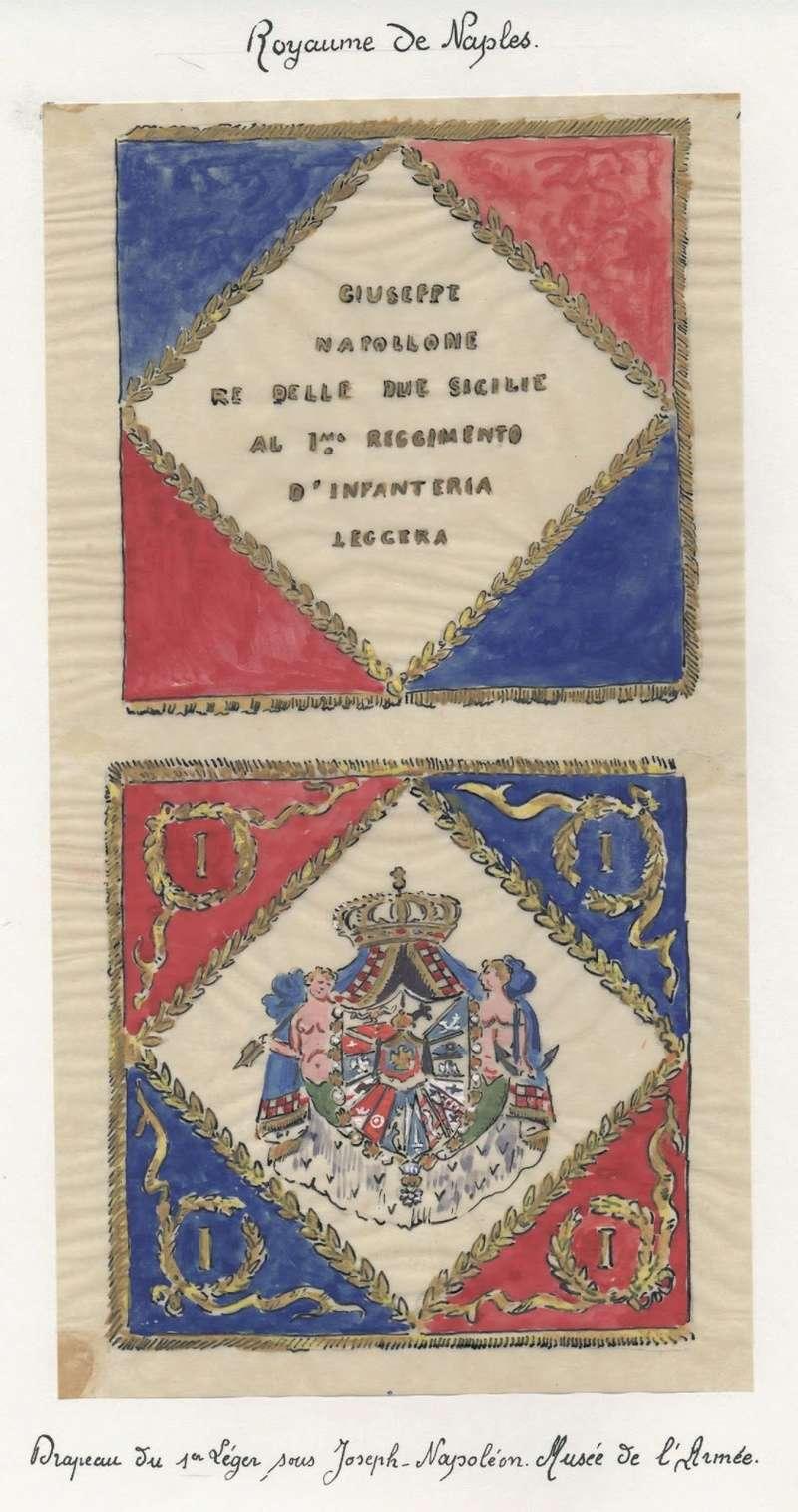 Drapeau du 1er régiment d'infanterie légère napolitaine Naples10