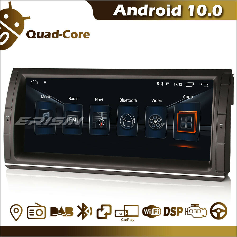 "Android 10.0 Autoradio 10.25"" tactile GPS Bluetooth TNT CarPlay DSP BMW S-l16024"