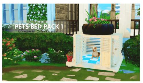 [Sims 4] Cage pour chien Pet-be10
