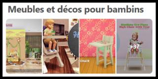 Meubles Et Decos Pour Bambins Sims Artists