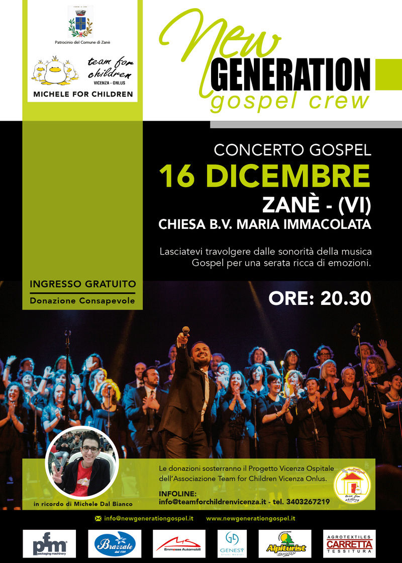 New Generation Gospel Crew in concerto a Zanè Locand11