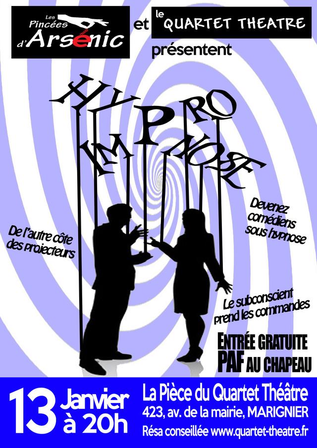 Hypno-Impro La Pièce/Marignier 13/01/18 Affich10