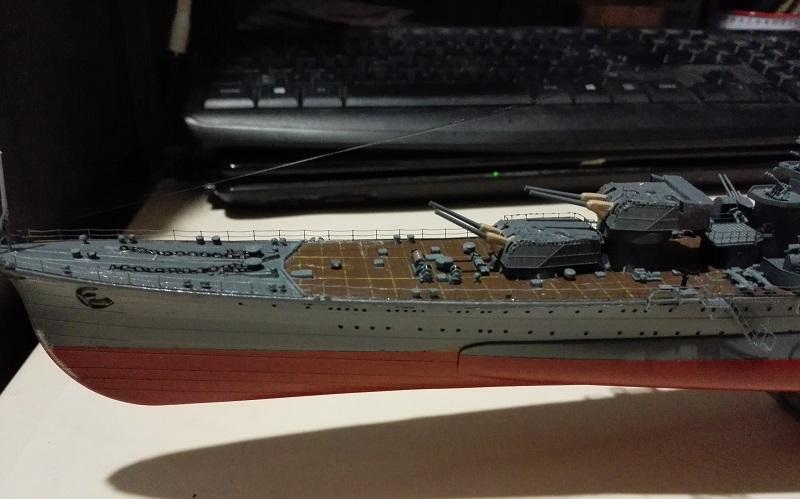IJN Maya 1944 Japanese Navy Heavy Cruiser a 1/350 de Aoshima Img_2075