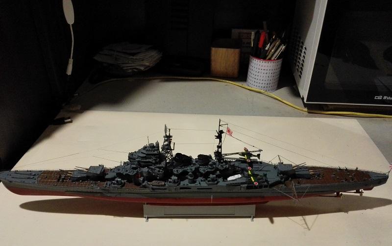 IJN Maya 1944 Japanese Navy Heavy Cruiser a 1/350 de Aoshima Img_2076