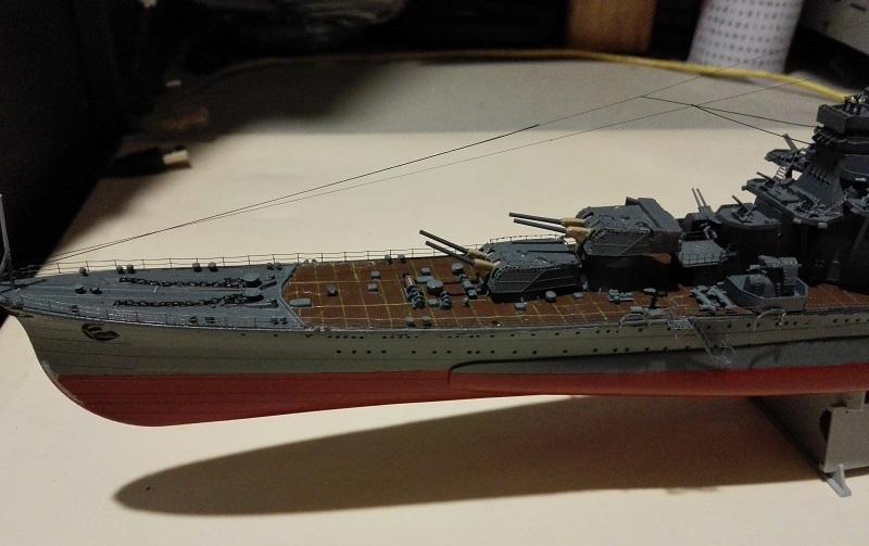 IJN Maya 1944 Japanese Navy Heavy Cruiser a 1/350 de Aoshima Img_2077