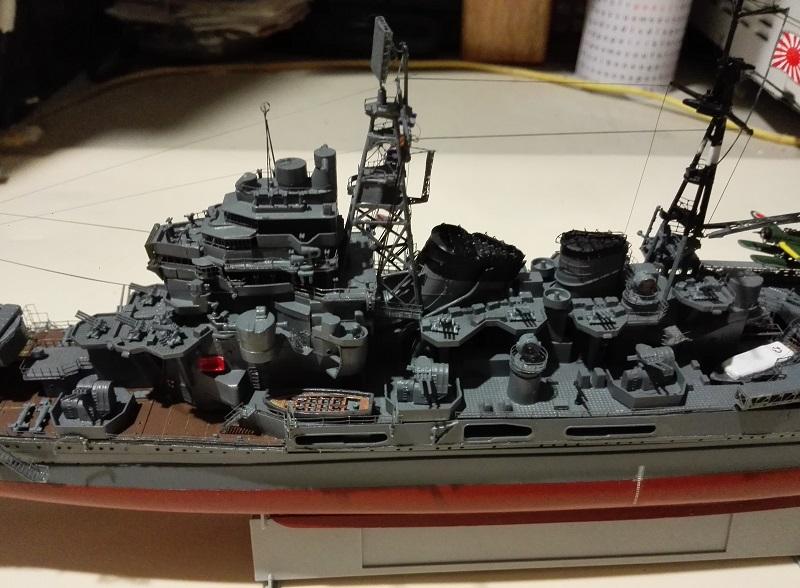 IJN Maya 1944 Japanese Navy Heavy Cruiser a 1/350 de Aoshima Img_2078