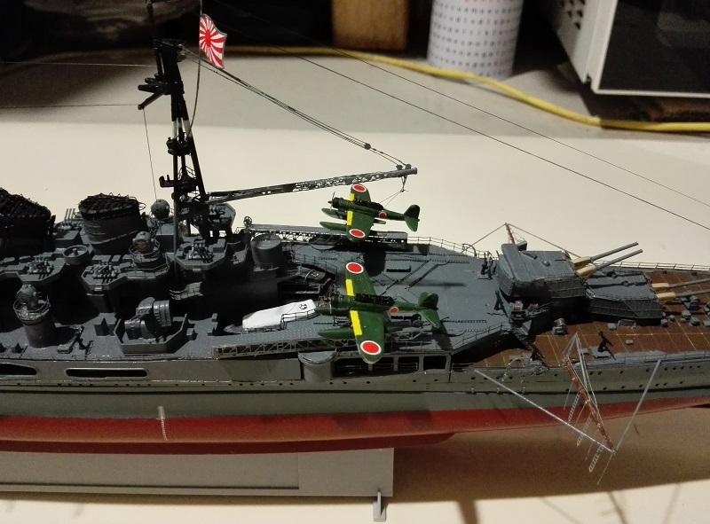 IJN Maya 1944 Japanese Navy Heavy Cruiser a 1/350 de Aoshima Img_2079