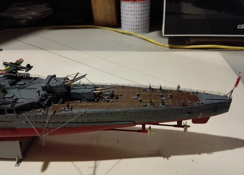 IJN Maya 1944 Japanese Navy Heavy Cruiser a 1/350 de Aoshima Img_2080