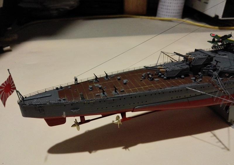 IJN Maya 1944 Japanese Navy Heavy Cruiser a 1/350 de Aoshima Img_2083