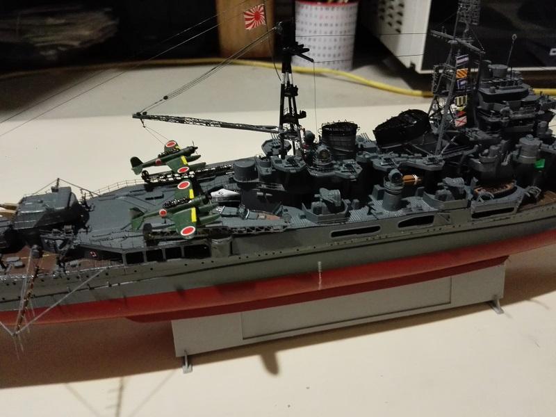 IJN Maya 1944 Japanese Navy Heavy Cruiser a 1/350 de Aoshima Img_2084