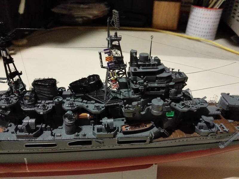 IJN Maya 1944 Japanese Navy Heavy Cruiser a 1/350 de Aoshima Img_2085