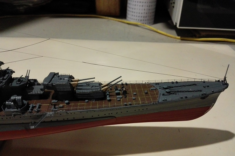 IJN Maya 1944 Japanese Navy Heavy Cruiser a 1/350 de Aoshima Img_2086
