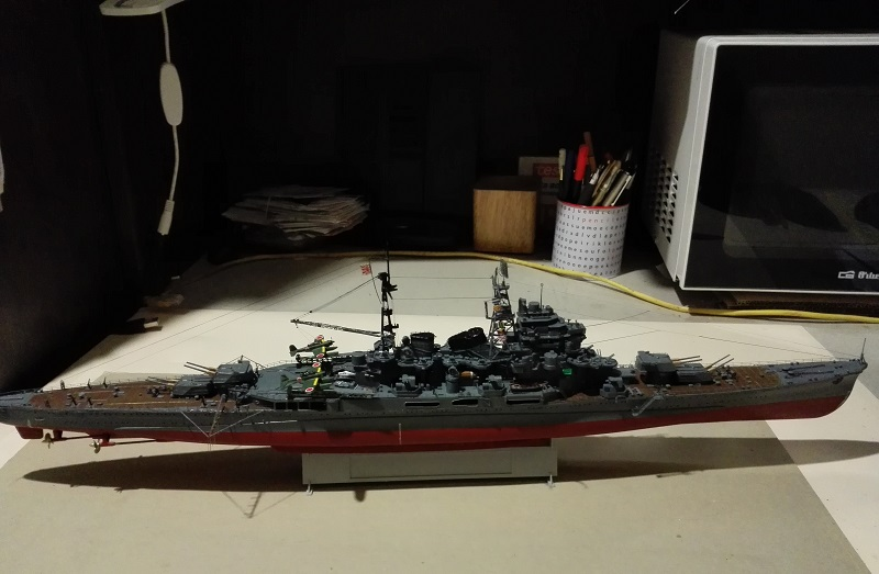 IJN Maya 1944 Japanese Navy Heavy Cruiser a 1/350 de Aoshima Img_2087