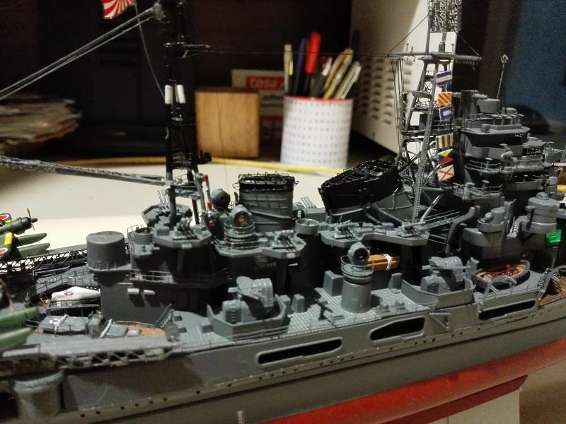 IJN Maya 1944 Japanese Navy Heavy Cruiser a 1/350 de Aoshima Img_2089