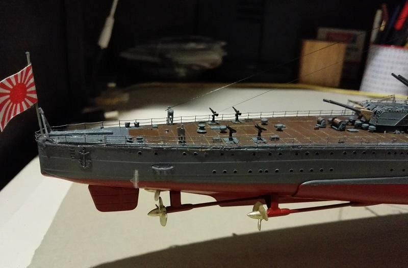IJN Maya 1944 Japanese Navy Heavy Cruiser a 1/350 de Aoshima Img_2091
