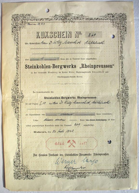 """Zeche Rheinpreussen Schacht 8 """"Gerdt"""" Rheinp10"""