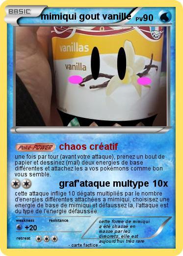 [Vote-Concours] L'heure du Mimiqui - Fakecard Pokemon  2vanil10