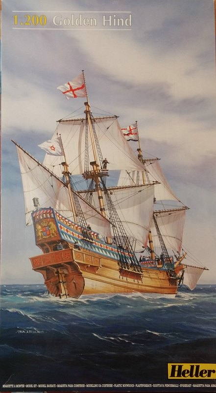 Golden Hind, Heller,in 1/200? (wohl eher 1/95) Comp_246