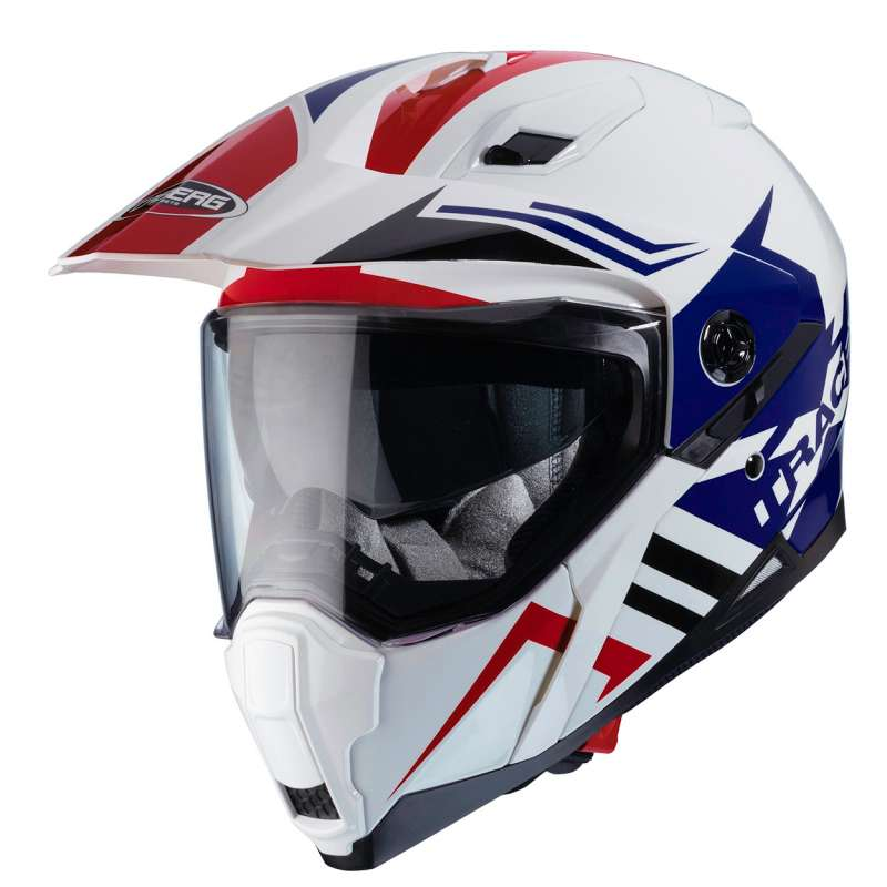Casque moto enduro Caberg XTRACE LUX BLANC/ROUGE/BLEU Caberg10