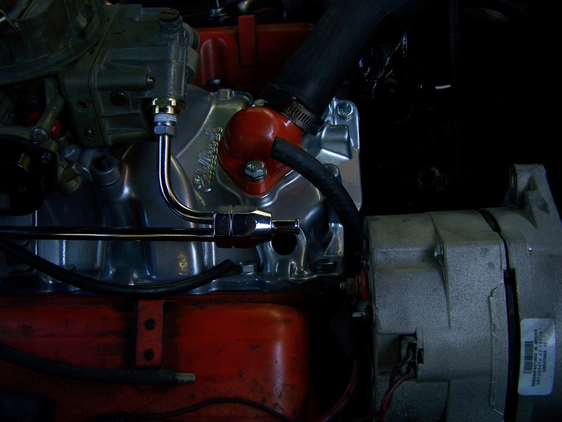 Holley, Edelbrock, Fuel Line and Heater Connection 100_0810