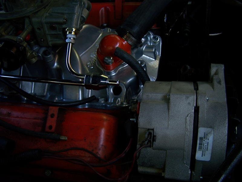 Holley, Edelbrock, Fuel Line and Heater Connection 100_0811