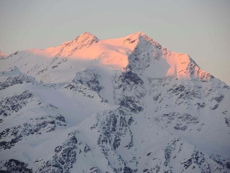 Le Gran Zebru 3851 m  Dernier jour , Point d'orgue du raid. J7-110