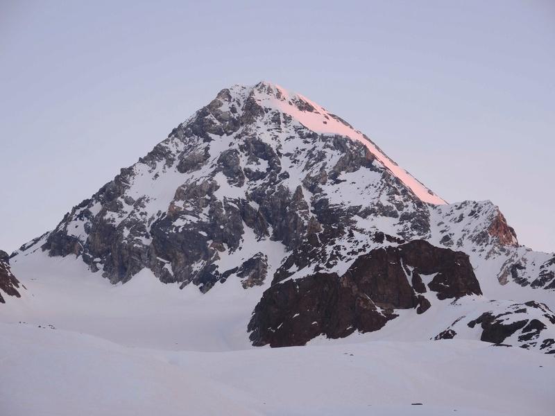 Le Gran Zebru 3851 m  Dernier jour , Point d'orgue du raid. J7-210