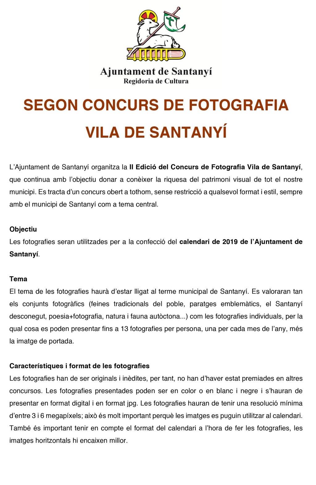 Concursos de Fotografía Septiembre 2018 Santan10