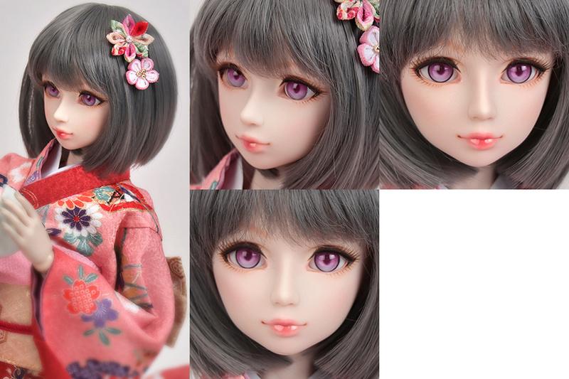 [Vendue] Tête Parabox Gretel peinte à la main + Offre kimono Hd-te-10
