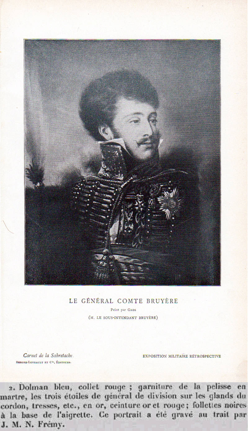 Général de division de cavalerie légère Jean Pierre Joseph Bruguière le baron Bruyère Carne_10