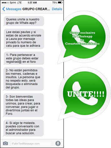 Grupo de Whats app de CrearteManualidades 618