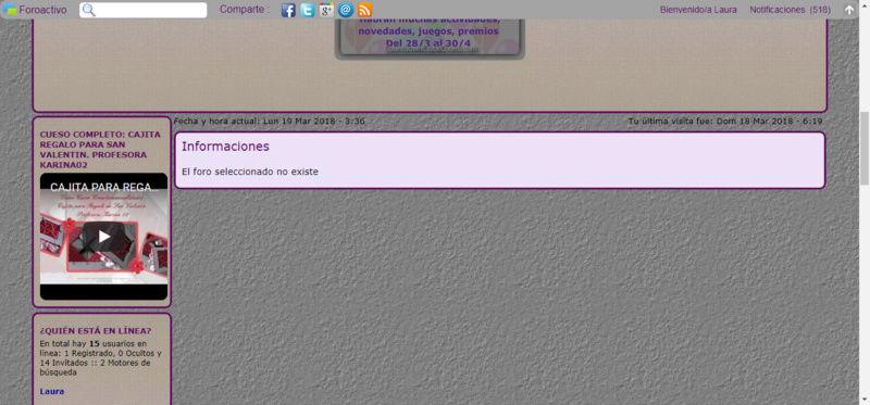 Utilice el tutorial de 4 foros en dos lineas y se elimino un foro ya existente Captur26