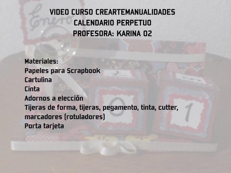 """VIDEO-CURSO GRATIS: """"CALENDARIO PERPETUO"""" Detalles, inscripcion y presentacion de la tarea Image210"""