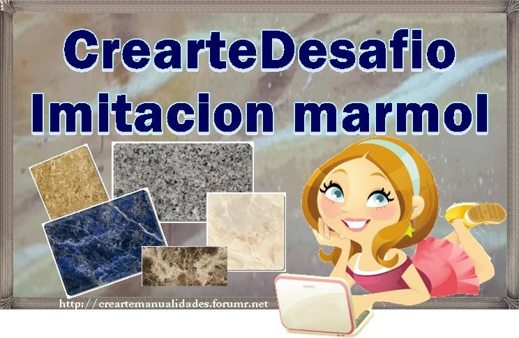 """CREARTEDESAFIO: """"IMITACION MARMOL"""". Detalles, inscripcion y presentacion de la tarea  Logo10"""