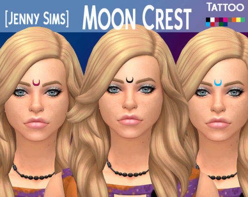 Moon Crest Tattoo for Sims 4 by jenny0786 Tumblr10