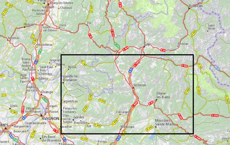 Un week-end moto cet été dans le Sud-est de la France, ça vous dit ? - Page 2 Carte10