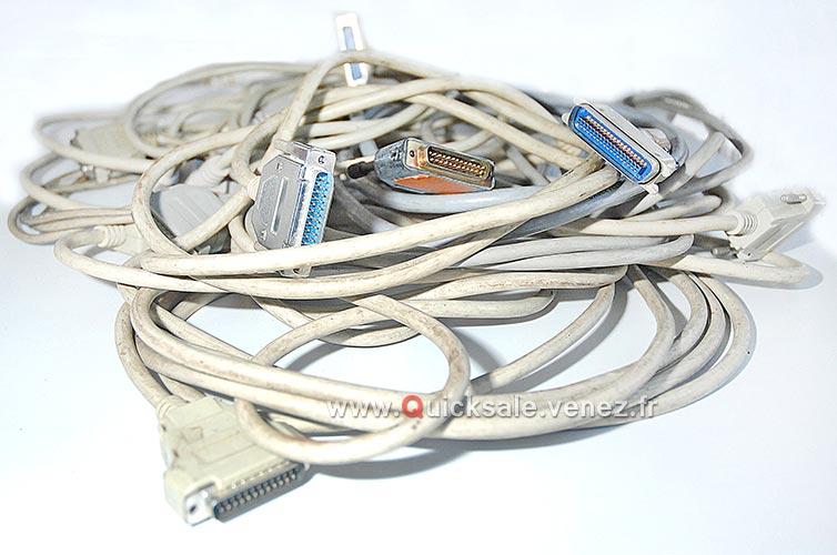 [VDS] Câbles parallèle 6ft IEEE-1284 DB25 M/F Centronics C36 pour périphériques, imprimantes, plus... Qs110