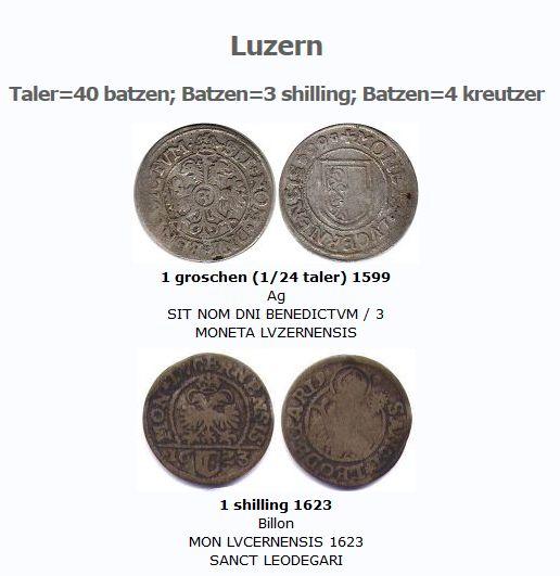 1 shilling Suisse de Luzerne, 1673 ... Clipbo14