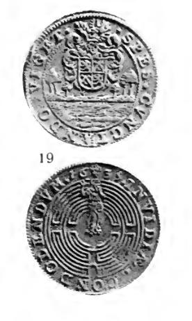 Jeton bruxellois émis par Antoine de Locquenghien, intendant du canal ... Clipbo19