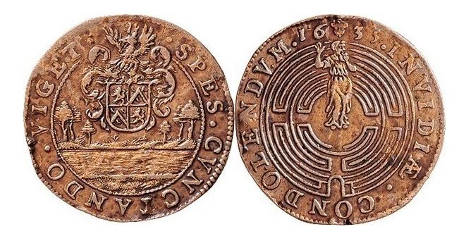 Jeton bruxellois émis par Antoine de Locquenghien, intendant du canal ... Clipbo22