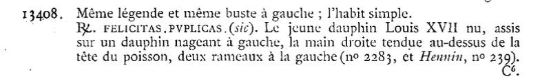 "Jeton Louis XVI pour le Dauphin Louis XVII ""FELICITAS PVBLICAS"" ... Clipbo29"