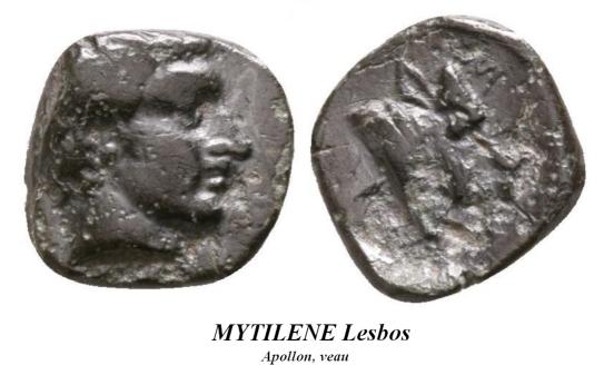 Petit bronze Mytilene Mytile10