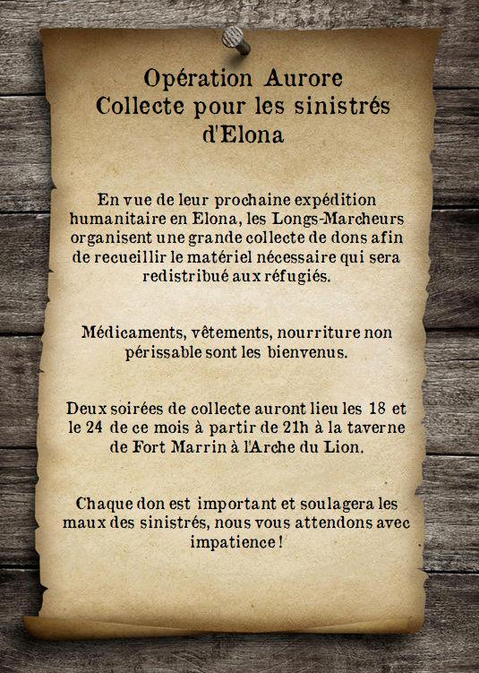 Expédition Aurore, collecte à l'Arche du Lion Affich10