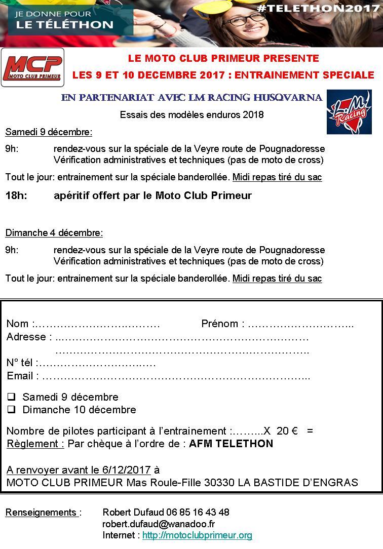 téléthon moto club primeur Bullet10