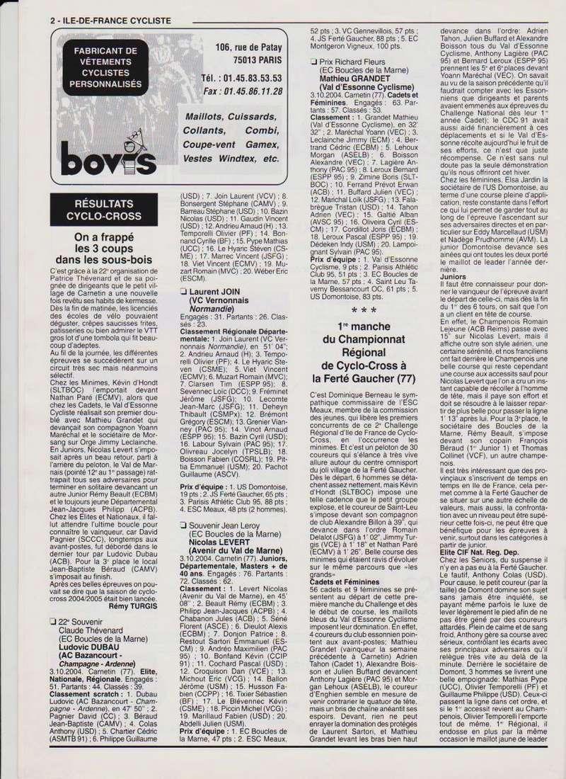 Coureurs et Clubs de septembre 2004 à fevrier 2008 - Page 2 00270