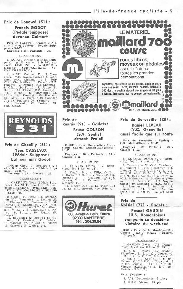 Coureurs et Clubs de juin 1974 à mars 1977 - Page 42 003144